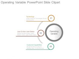Operating Variable Powerpoint Slide Clipart