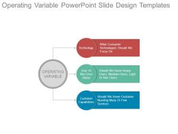 Operating Variable Powerpoint Slide Design Templates