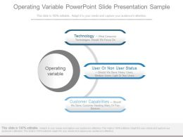 Operating Variable Powerpoint Slide Presentation Sample