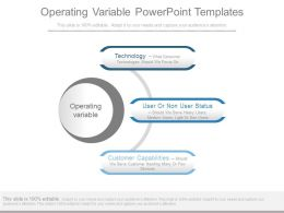 Operating Variable Powerpoint Templates