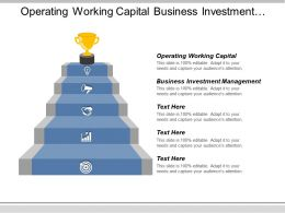 Operating Working Capital Business Investment Management B2b Sales And Marketing Cpb