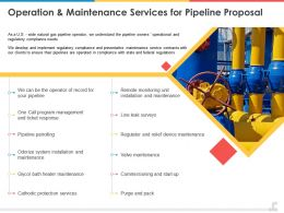 Operation And Maintenance Services For Pipeline Proposal Ppt Powerpoint Presentation Styles Aids