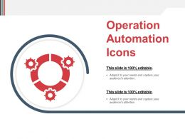 Operation Automation Icons Powerpoint Slides