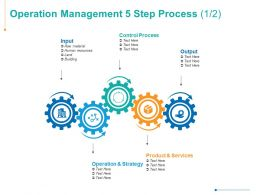 Operation Management 5 Step Process Control Process Strategy Ppt Powerpoint Presentation Summary Samples
