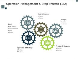 Operation Management 5 Step Process Product Ppt Powerpoint Presentation Slides Rules