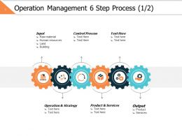 Operation Management 6 Step Process 1 2 Ppt Powerpoint Presentation File Graphic Images