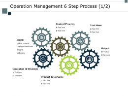 Operation Management 6 Step Process Building Ppt Powerpoint Presentation Layouts Layout