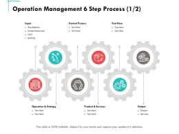 Operation Management 6 Step Process Ppt Powerpoint Presentation Summary Themes