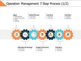 Operation Management 7 Step Process 1 2 Ppt Powerpoint Presentation File Graphic Tips