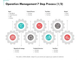 Operation Management 7 Step Process Ppt Powerpoint Presentation Summary Tips