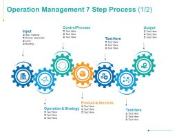 Operation Management 7 Step Process Technology Management Ppt Powerpoint Presentation Summary Themes