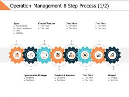 Operation Management 8 Step Process 1 2 Ppt Powerpoint Presentation File Graphics Design