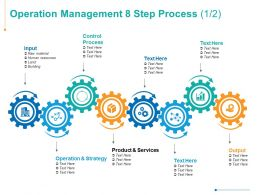 Operation Management 8 Step Process Marketing Strategy Ppt Powerpoint Presentation Summary Deck