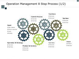 Operation Management 8 Step Process Strategy Ppt Powerpoint Presentation Portfolio Graphics