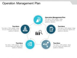 Operation Management Plan Ppt Powerpoint Presentation Icon Tips Cpb