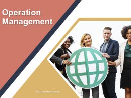 Operation Management Powerpoint Presentation Slides