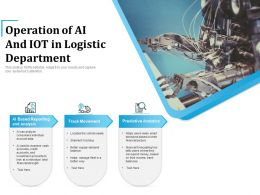 Operation Of AI And IoT In Logistic Department