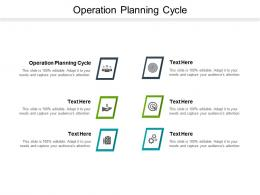 Operation Planning Cycle Ppt Powerpoint Presentation Outline Slides Cpb