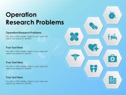Operation Research Problems Ppt Powerpoint Presentation Slides Grid