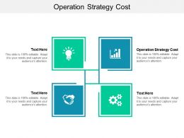 Operation Strategy Cost Ppt Powerpoint Presentation Layouts Picture Cpb