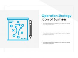 Operation Strategy Icon Of Business