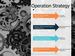 Operation Strategy Ppt Powerpoint Presentation File Graphics Example