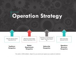 Operation Strategy Ppt Powerpoint Presentation Summary Design Templates