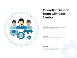 Operation Support Team With Gear Symbol