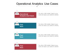 Operational Analytics Use Cases Ppt Powerpoint Presentation Icon Backgrounds Cpb