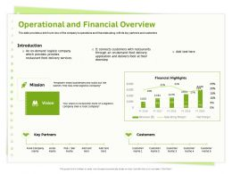 Operational And Financial Overview Logistics Ppt Powerpoint Presentation File Gridlines