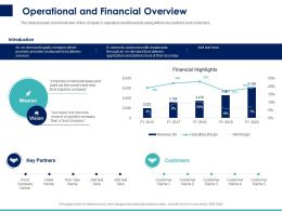 Operational And Financial Overview Ppt Powerpoint Presentation Outline