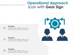 Operational Approach Icon With Gear Sign