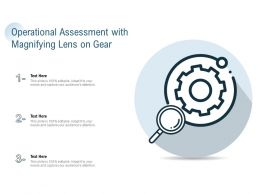 Operational Assessment With Magnifying Lens On Gear