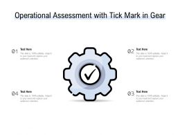 Operational Assessment With Tick Mark In Gear