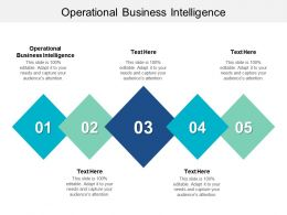 Operational Business Intelligence Ppt Powerpoint Presentation Gallery Introduction Cpb