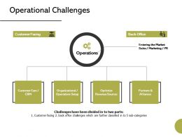 Operational Challenges Management Ppt Powerpoint Presentation Styles Graphics Example