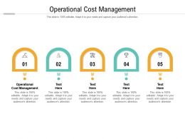 Operational Cost Management Ppt Powerpoint Presentation File Graphics Template Cpb
