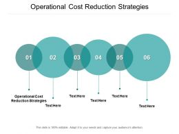 Operational Cost Reduction Strategies Ppt Powerpoint Presentation Outline Introduction Cpb