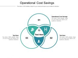 Operational Cost Savings Ppt Powerpoint Presentation Slides Layout Cpb