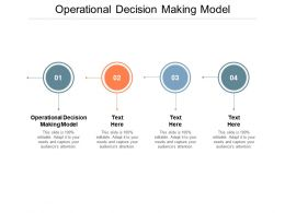 Operational Decision Making Model Ppt Powerpoint Presentation Professional Background Cpb