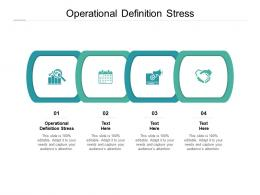 Operational Definition Stress Ppt Powerpoint Presentation Styles Diagrams Cpb