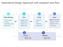 Operational Design Approach With Adoption And Plan