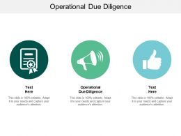 Operational Due Diligence Ppt Powerpoint Presentation File Background Images Cpb