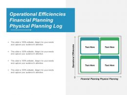 Operational Efficiencies Financial Planning Physical Planning Log Management Cpb