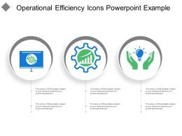 Operational Efficiency Icons Powerpoint Example