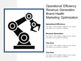 Operational Efficiency Revenue Generation Brand Health Marketing Optimization