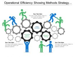 Operational Efficiency Showing Methods Strategy And Initiate Execution