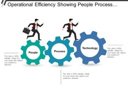 Operational Efficiency Showing People Process And Technology