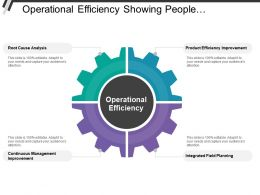 Operational Efficiency Showing Product Efficiency Improvement And Root Cause Analysis