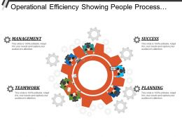 Operational Efficiency Showing Teamwork Management Planning And Success